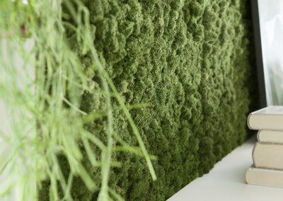Mooswand - Wohnzimmer - Islandmoos Waldgrün